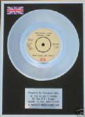 MANCHESTER UNITED - Platinum Disc 7 inch - GLORY GLORY